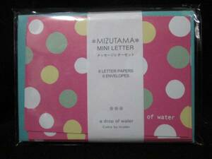 【即決】◇メッセージレターセット◇ミニレターセット / メッセージカード /ピンク×グリーン 水玉