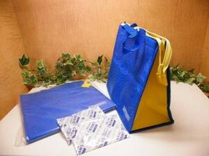 【未使用品】ノベルティ品■クーラーバック5個セット◆保冷剤付き■A-18 (1)