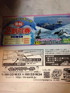 イルカマリンワールド★2割引券★夏休みの思い出に★旅行