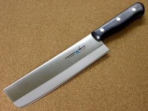関の刃物 スジ菜切り包丁 17.5cm (175mm) TSマダム AUS-8 クロムモリブデン ステンレス 家庭用の野菜切り両刃包丁 大根のかつらむき 日本製
