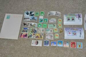 ●切手 蒸気機関車日本昔話 お年玉切手 外国切手 7円はがき