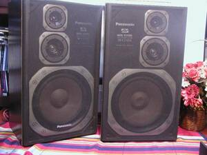 【パワフルな音】★◆パナソニック製(PANASONIC)、SB-CD370,3WAYスピーカー、ペア 良好★◆松下電器。
