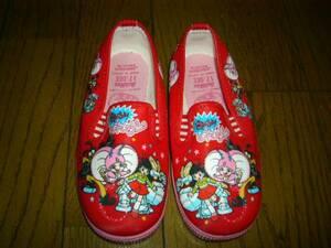 女児 女の子 靴 どきんちょネムリン ズック 赤 17cm ビニール 昭和時代品 最後の1点 今となると売られていない 貴重です未使用