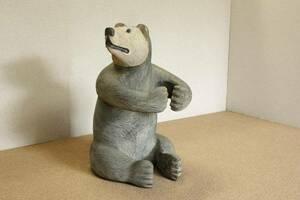 『癒し』◇アラスカ*原住民*一刀彫*木彫り熊*珍品*貴重*一点物