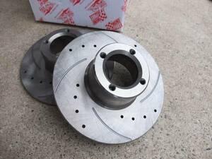 12 -inch slit entering drilled disk rotor set
