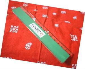 ◆ 非売品  SWATCH 線引き 定規 スケール 企業物 緑