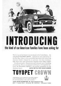 ◆1958年の自動車広告 トヨペットクラウン 米国向け トヨタ