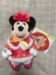 【送料込】 TDS シー クリスマスウィッシュ 2012 ミニー ぬいぐるみバッジ ぬいば クリスマス 東京ディズニーシー 新品未使用