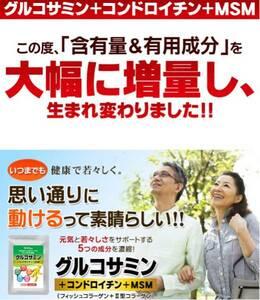 2型コラーゲン配合グルコサミン コンドロイチン MSM 1ヵ月分 健康食品 サプリメント