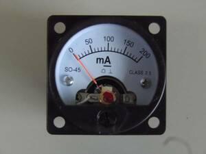 45丸型直流電流計 200mA