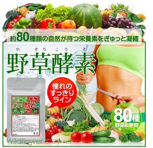野草酵素 1ヶ月分 約80種類の栄養素 ダイエット 健康ケア 自然 健康食品 サプリメント