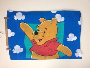 くまのプーさん ピローケース 枕カバー キャラクターシーツ ディズニー ヴィンテージ 生地 リメイク ハンドメイド
