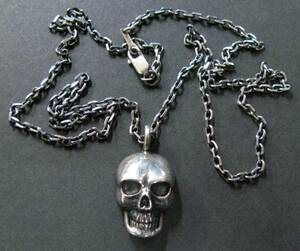 ワイズフォーメン:シルバー950 ドクロ ネックレス(Yohji ヨウジ Yohji Yamamoto necklace 古着 買取