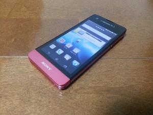 即落/即発!!美中古品 SO-05D Xperia SX ピンク