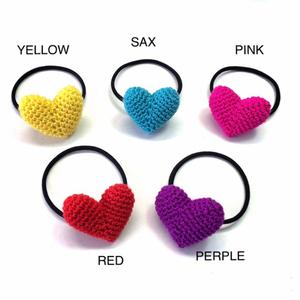 быстрое решение! оригинал Heart резинка для волос baby Kids резинка для волос мама вязаный крючком