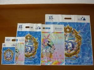 即決 新品 東京ディズニーシー 1 5周年記念 ディズニーイースター ショッパー ショップ袋 ショ袋 お土産袋 おみやげ袋 54枚セット♪TDR TDS