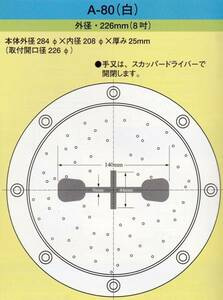 送料込み イケダ式スカッパー デッキ用「A-80」※取り寄せ商品