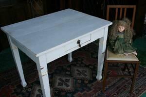 イギリスアンティーク家具 デスク テーブル キッチンテーブル 机 英国製 s1a