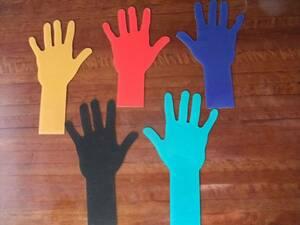 5色 ハンド 手 ネイル ディスプレイ 美品