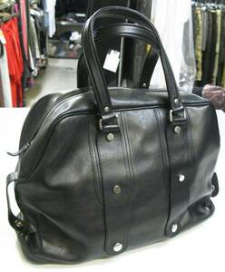 JACQUES LE CORRE ジャックルコー:レザー ボストンバッグ 黒 ( アッシュペーフランス JACQUES LE CORRE Leather Bag