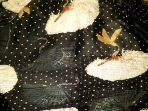稀少 カネコイサオ 綿オーガンジー 水玉と扇子柄スカート ペチコート付 ワンダフルワールド 97年コレクション カタログ掲載品