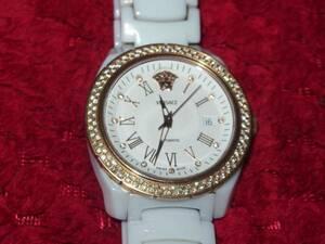 ヴェルサーチVERSACE/セラミック素材+ダイヤモンドベゼル/紳士・メンズの腕時計/DV-One/定価68万円/1.5万円で1駒増やしてます/ヤマト便