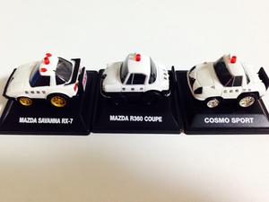 送料込)ちびっこチョロQ パトカー 3種 警視庁 島根県警 広島県警