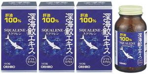 オリヒロ 深海鮫エキス■180粒×3個セット■深海ザメ 肝油
