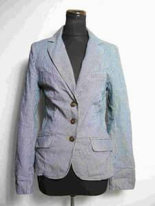 美品 エイチアンドエム H&M ジャケット 36 綿 ストレッチ B424-78