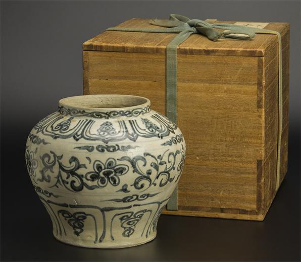 元或明初 安南青花壺 共箱 中国 古美術