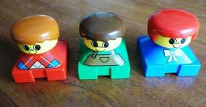 レゴ デュプロ フィグ 子供 3体セット ブロック 中古 旧 男の子