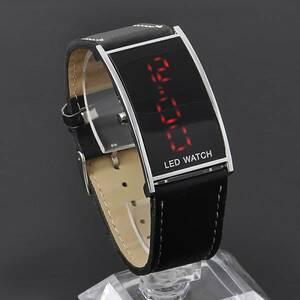 LEDデジタルウォッチ メンズ 生活防水 見やすい大画面液晶 腕時計 薄型液晶