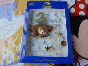 即決♪新品♪東京ディズニーシー10周年記念 10マジカルトップス Relax ダッフィー シェリーメイ Be Magical! ストラップ コスチューム♪TDS