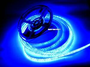 5m 600連 LEDテープ 高輝度ブルー 青 間接照明 アンダーネオン 車内灯 12V防水 車 バイク 原付 室内 カスタム アクセサリー