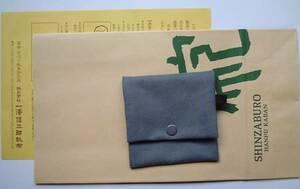 ■一澤信三郎帆布■2つ折りボタン留め財布 わさび色■新品!!