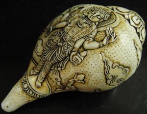 ◆チベット密教法具 法螺貝(シャンカ)ラクシュミ