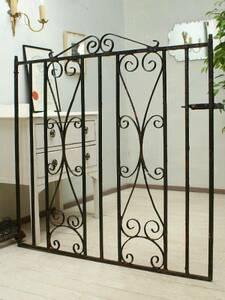 England antique iron fence gate . garden 1577
