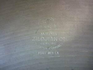 AVEDIS ZILDJIAN Co GENUINE ジルジャン 22インチ 中古年代物