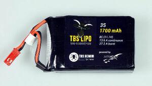 AquaPC★ミニマルチコプターに最適3S 1.7AH TBS LiPo (Gemini)★