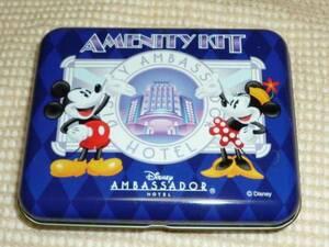 ◆ディズニー アンバサダーホテル宿泊者 限定 缶入りアメニティ♪非売品ミッキー&ミニー