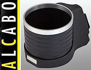【M's】R50 R52 R53 ミニ(01y-06y)ALCABO 高級 ドリンクホルダー(BK+リング)//右ハンドル用 BMW MINI カップホルダー AL-091BS AL091BS