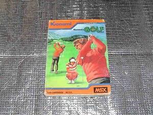 ◆即決◆MSX コナミのゴルフ(レア版)(箱説あり)(KONAMI)
