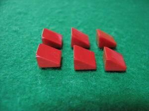 ☆レゴ-LEGO★54200★スロープ33度[赤]1x1x2/3(斜面)★6個★新品★色々な用途に