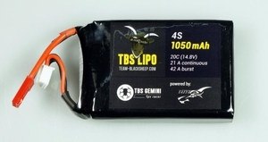 AquaPC★ミニマルチコプターに最適4S 1.0AH TBS LiPo (Gemini)★