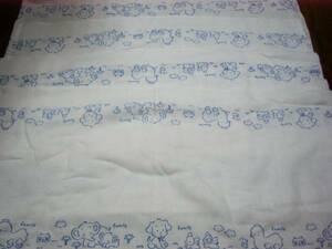 おしめ おむつ オムツ ドビー織 親子の象さん柄 可愛い 青柄 ふわっふわっ 4枚有.おしめは随時入荷してる 直ぐに出品しますので