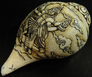 ◆チベット密教法具 法螺貝(シャンカ)カーリー