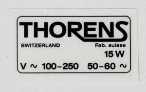 ◆THORENS/トーレンス TD124専用部品◆ ステッカー 新品 (米国/ロサンゼルス発)