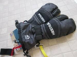 HESTRA ヘストラ Army leather Czone 3Finger アーミー レザー シーゾーン 3フィンガー ミトン グローブ 8(M)