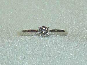 【値下げ交渉は質問欄より!】MIKIMOTO☆ミキモト製 最高級ダイヤ0,42CT 素敵な輝きのプラチナ指輪リング