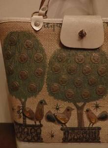 60sビンテージEnidcollinsエニッドコリンズジュエルバッグ/鳥コインヒッピーロカビリーΓOT